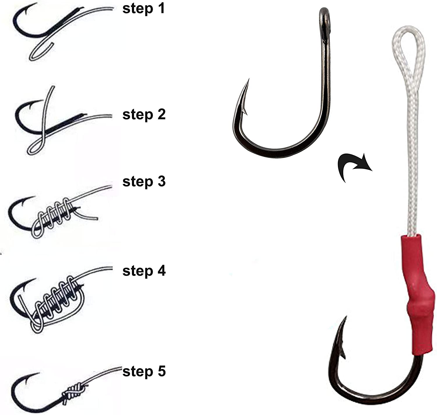 Details about  /Fishing Hooks Barbed Single Circle Carp Hook Stainless Steel Fishhook 1//0#-13//0#
