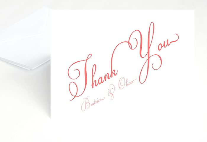 Amazon Com Personalized Wedding Thank You Notes Thank You Note