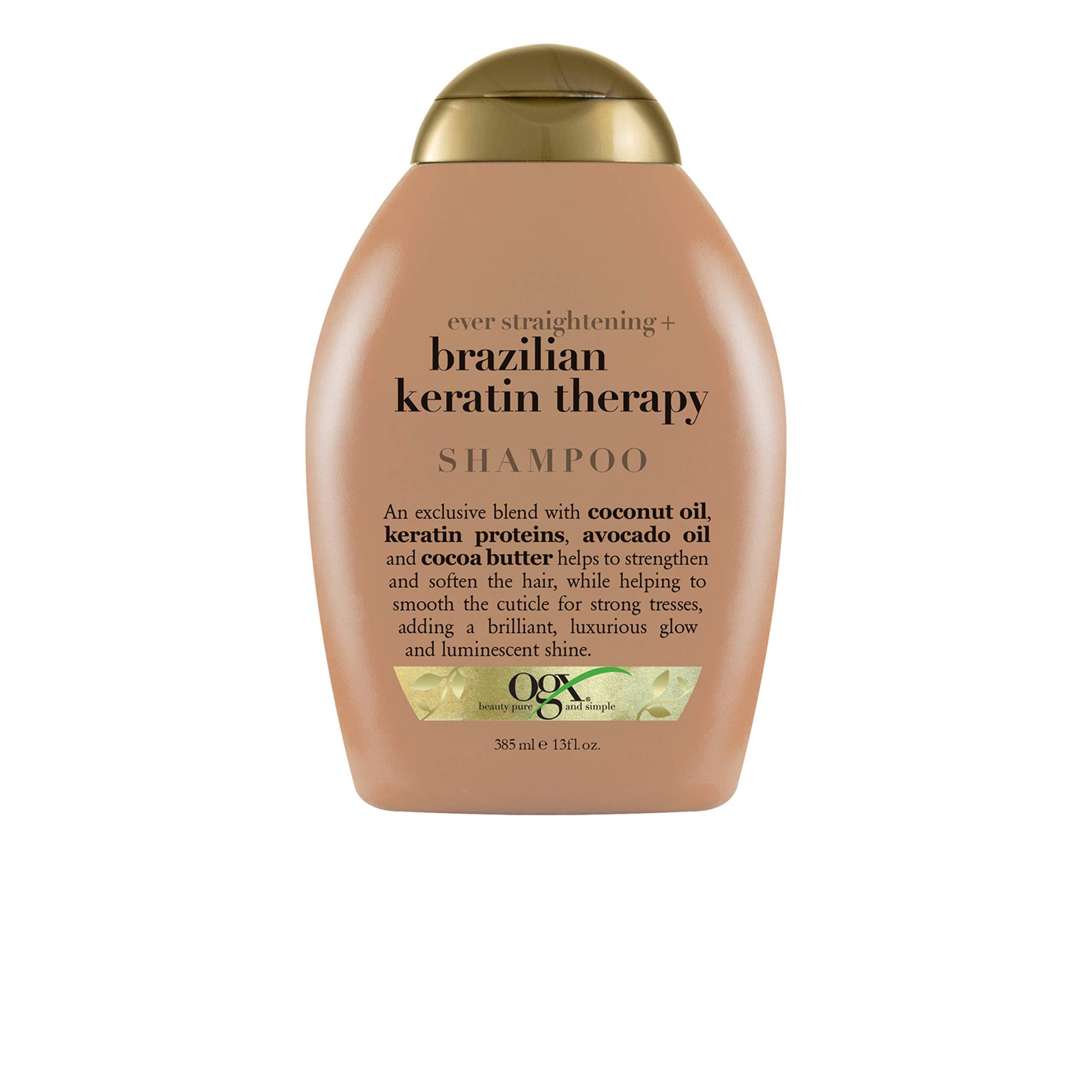 organix Ever Straightening Brazilian Keratin Therapy Shampoo, 13 Oz