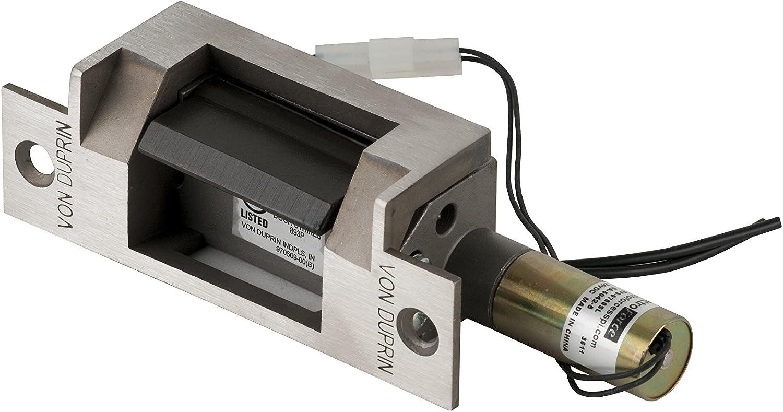 Aluminum Finish with 3 Faceplates Von Duprin 5100 3FP 689 Medium Duty Electric Strike for Cylindrical Lock or aluminum deadlatch