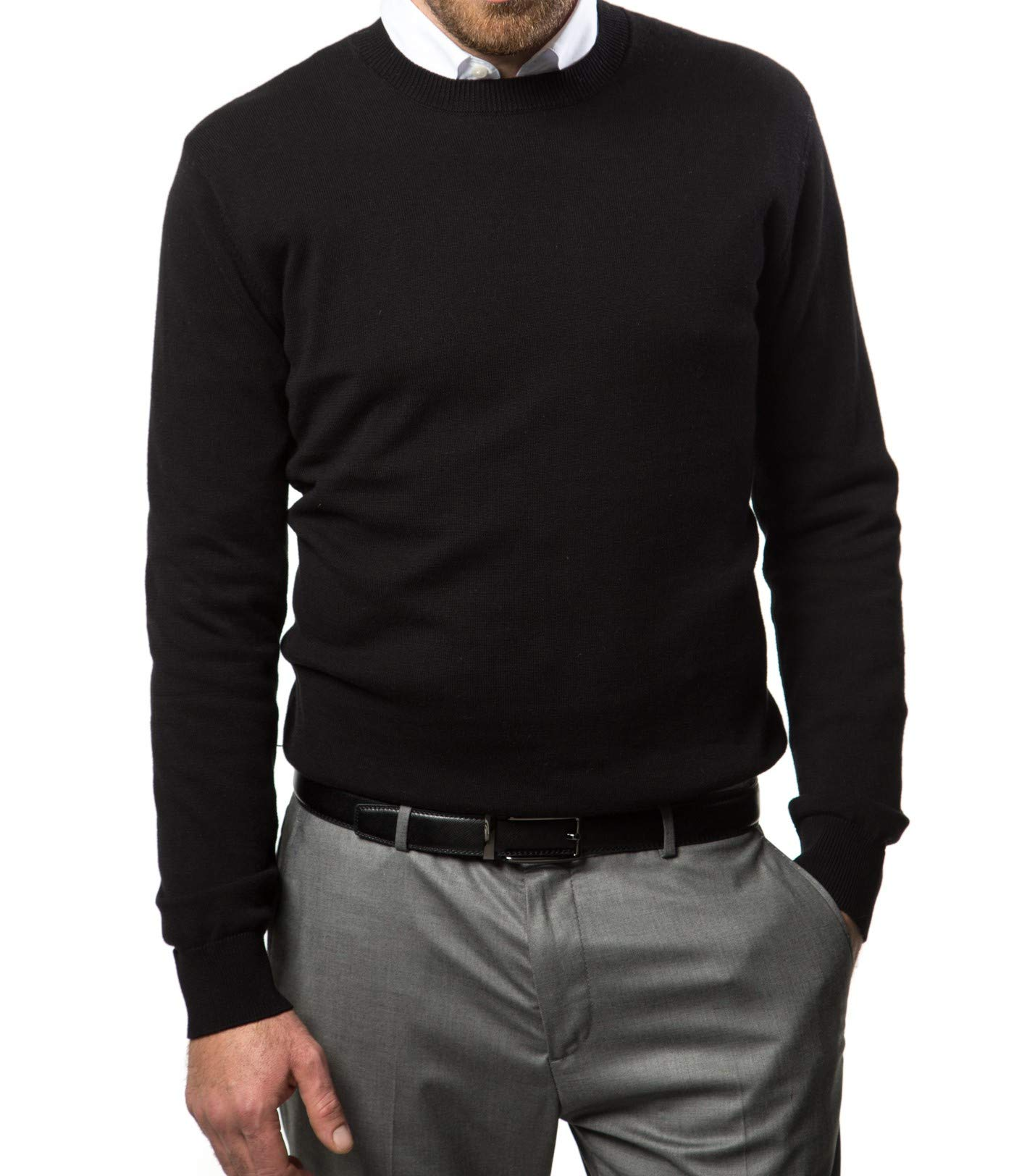 637f541f5 Marino Cotton Sweaters for Men - Lightweight Crewneck Men s Pullover  product image