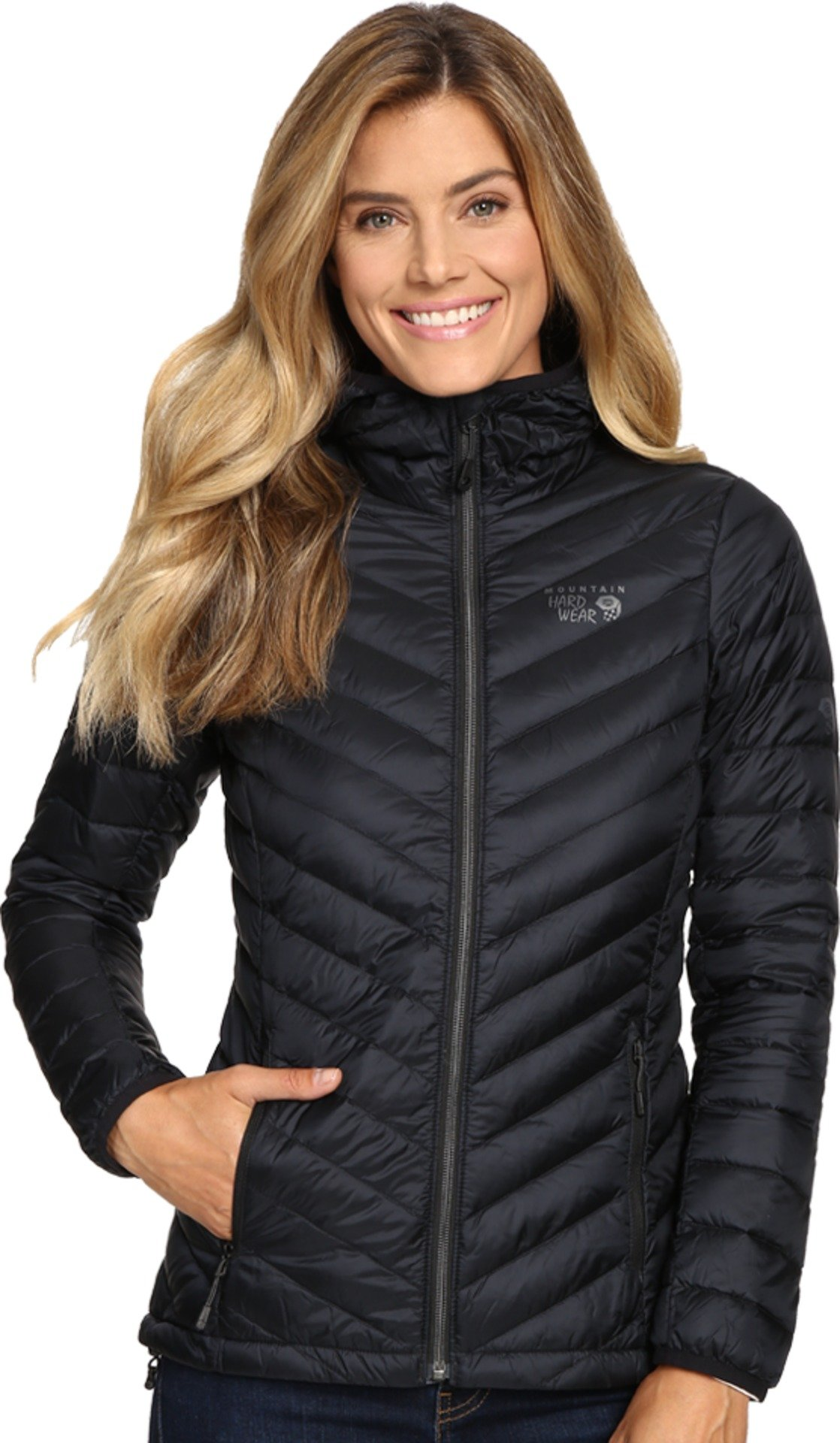 Mountain Hardwear Womens Micro Ratio Hooded Down Jacket