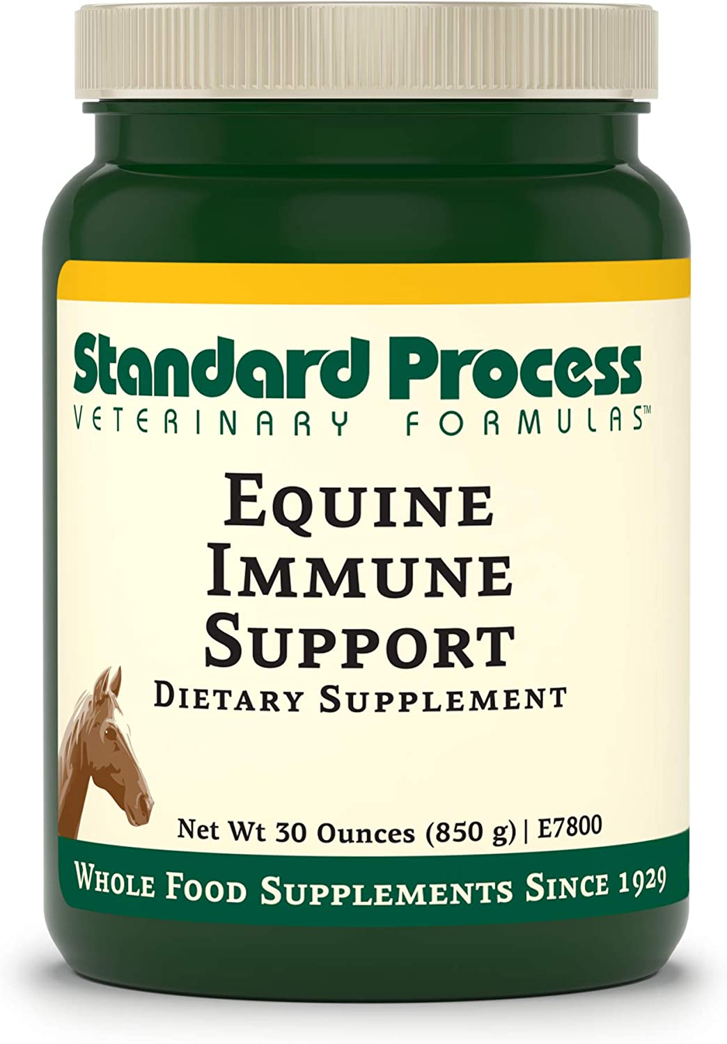 Standard Process Equine Immune Support - Whole Food Horse Supplies for Immune Support with Whey Protein, Magnesium Citrate, Kale, Sunflower Lecithin, L-Glutamine, Turmeric Root - 30 Ounce