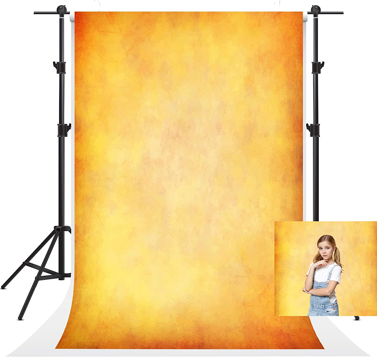 10x10ft Yellow Abstract Photography Backdrop Texture Microfiber Seamles Backdrop Portrait Photo Background