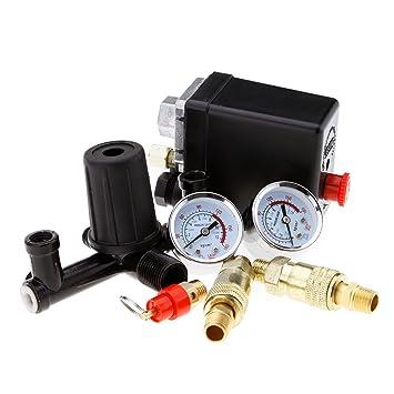 Creative-Idea monofásico Presostato de compresor 131 mm con Válvula de Aire?Controlador?Calibre: Amazon.es: Hogar