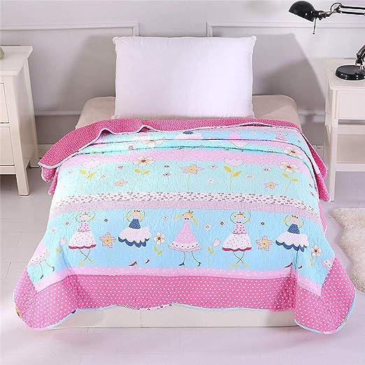 Alicemall Colcha de algodón acolchado remiendo Juego de cama Manta ...