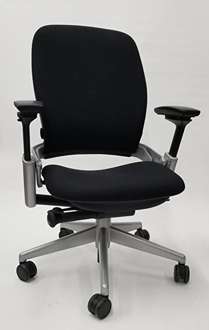 Genial Steelcase Leap Chair V2 In Black Fabric Titanium Base