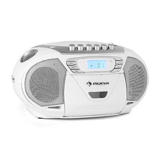 10 opinioni per auna KrissKross registratore mangianastri stereo portatile con lettore CD