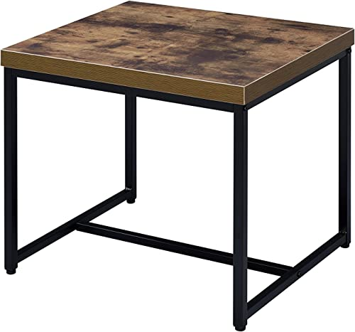 ACME Furniture 80617 Bob Weathered Oak Black End Table
