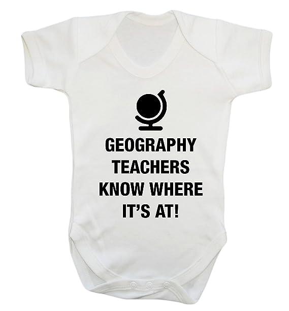 preiswert kaufen Für Original auswählen retro Geographie Lehrer Wissen, Wo Es Auf Baby Weste Body Strampler