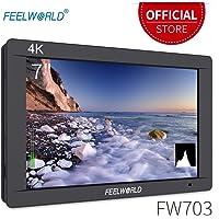 "Feelworld FW703 Kamera Feld Monitor 7"" 4K Ultra HD 1920x1200 LCD IPS Bildschirm 16:10 mit HDMI SDI für DSLR Camera Sony Canon Nikon Olympus Pentax Panasonic"