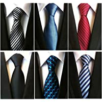 Adulove Men's Necktie Classic Silk Tie Woven Jacquard Neck Ties 6/9 / 12 PCS