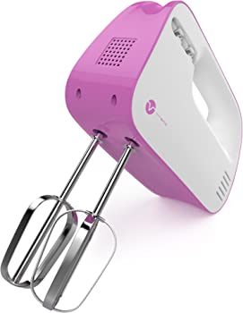 Vremi 3-Speed Compact Hand Mixer with Built-In Beater Storage