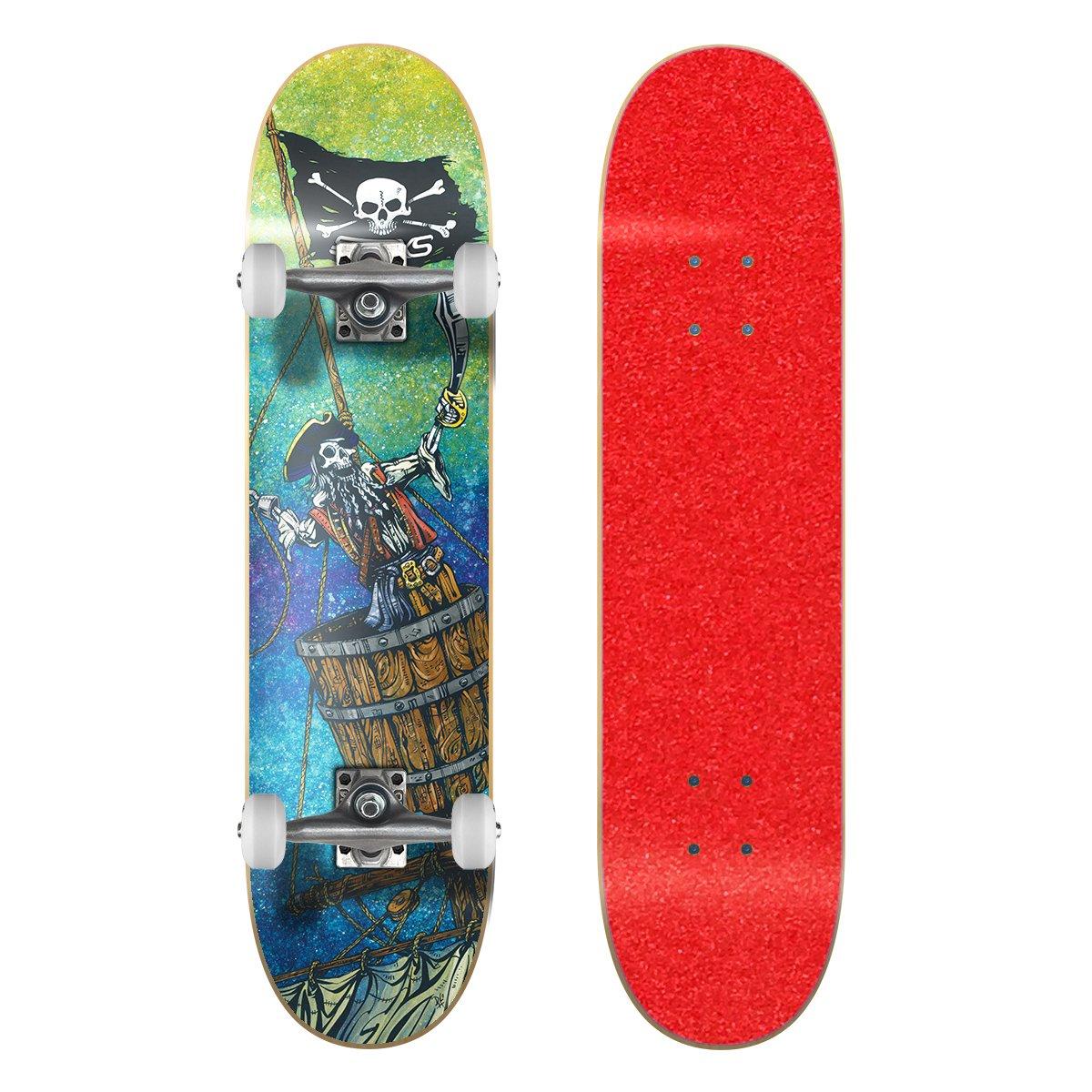 当店の記念日 SkateXS x ビギナー 11-12)|Red 海賊 ストリート スケートボード B01N9DP5OR Grip 7.4 x 30 (Ages 11-12)|Red Grip Tape/ White Wheels Red Grip Tape/ White Wheels 7.4 x 30 (Ages 11-12), 帽子屋QUEENHEAD:6549c10e --- a0267596.xsph.ru