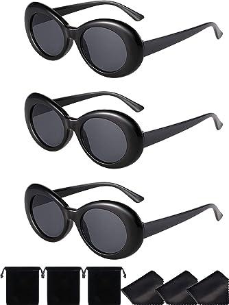 0f6dc7cdb26da Lunettes Ovales de Cadre Épais Kurut Kobain Lunettes de Soleil Rondes à la  Mode Rétro Femmes