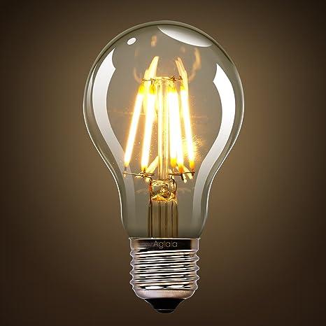 Aglaia bombilla LED 6 W E27 – Lot de 2 ampoules-6 W Consumo –