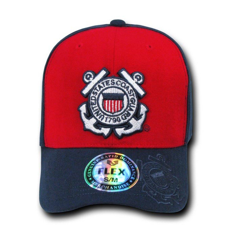 0b4c4dc76ca Amazon.com  RAPID DOMINANCE Genuine Flex Military Caps COAST GUARD - S   M   Clothing