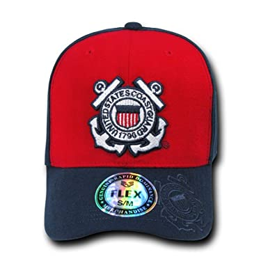 74cce566deae9 Image Unavailable. Image not available for. Color  RAPID DOMINANCE Genuine Flex  Military Caps COAST GUARD ...