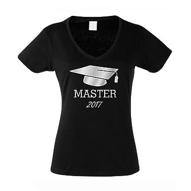 Shirtdepartment Damen V-Ausschnitt T-Shirt - Abschluss Master 2017 - von Shirt  DEPARTMENT