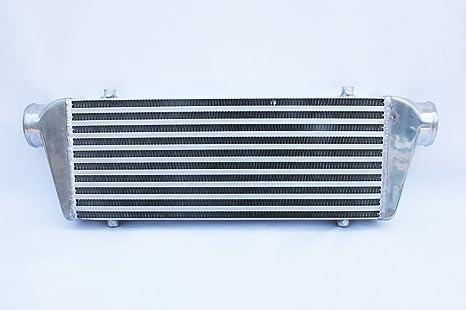 Supeedmotor Universal Intercooler 2.5 de entrada y salida frontal para Turbo Intercooler 450 x 175 x
