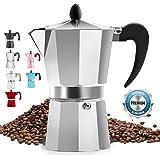 Classic Stovetop Espresso Maker for Great Flavored Strong Espresso, Classic Italian Style 5 Espresso Cup Moka Pot, Makes…