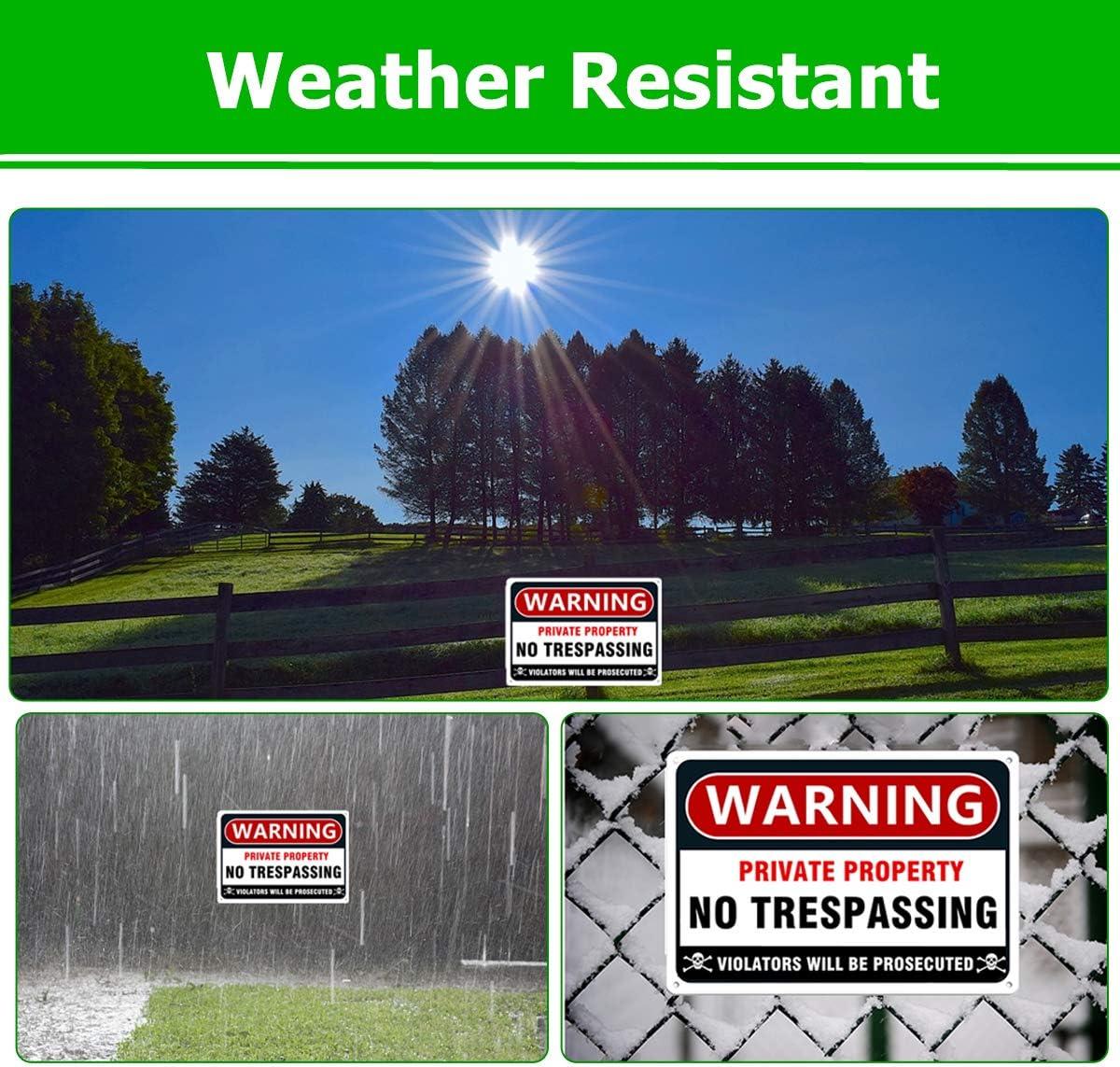 Amazon.com: Señal de advertencia de metal para jardín con ...