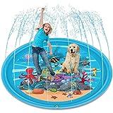 Splash Pad, 68″ Inflatable Water Sprinkler Pad, Sprinkle Play Mat Outdoor Water Mat Toys, Fun Splash Play Mat Summer Outdoor
