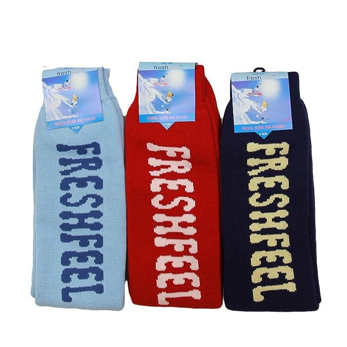 3 pares para hombre ropa de trabajo Invierno Tubo Chunky punto cálido de esquí Calcetines térmicos Tallas 6 - 11 Multicolor Surtido: Amazon.es: Ropa y ...