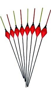 0.05g // 0.1g // 0.2g // 0.3g SRG Pole Floats SRG013 Pack of 6 x Pole Floats Diamond Margin Fiberglass Stem choose from