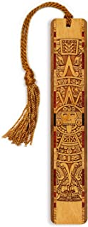 product image for Aztec/Mayan Calendar, Engraved Wooden Bookmark with Tassel - Search B0718SHS5S for Personalized Version