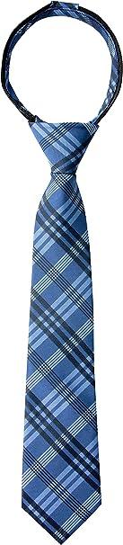 Spring Notion Boys Tartan Plaid Woven Zipper Tie