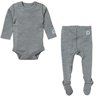 2e2042bc407 Amazon.com  Ultrasoft Merino Baby Base Layer Set 6-9M (Marl-Gray ...