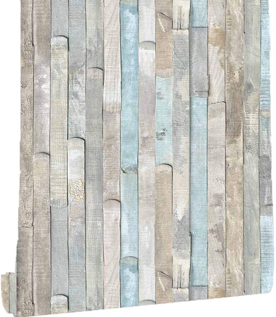 Wood Wallpaper Peel and Stick Wallpaper 17.71 Inch X 118 Inch Self-Adhesive Removable Wood Grain Decoration Film