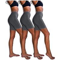 a6c476ede0b3 Sexy Basics Slip Shorts | 3-Pack Bike Shorts | Cotton Spandex Stretch  Boyshorts for