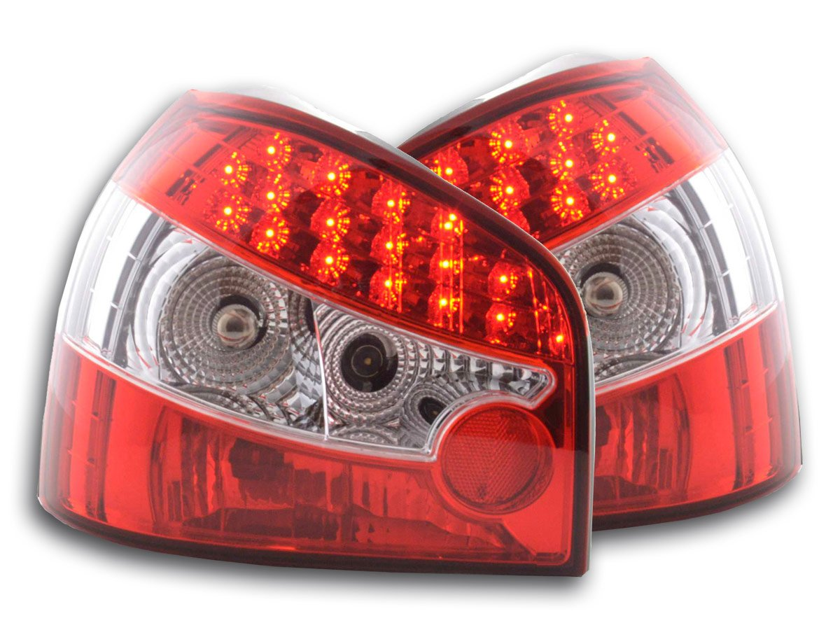 at71685 - LED Faros traseros Audi A3 Tipo 8L Bj. 96 - 02 rojo: Amazon.es: Coche y moto