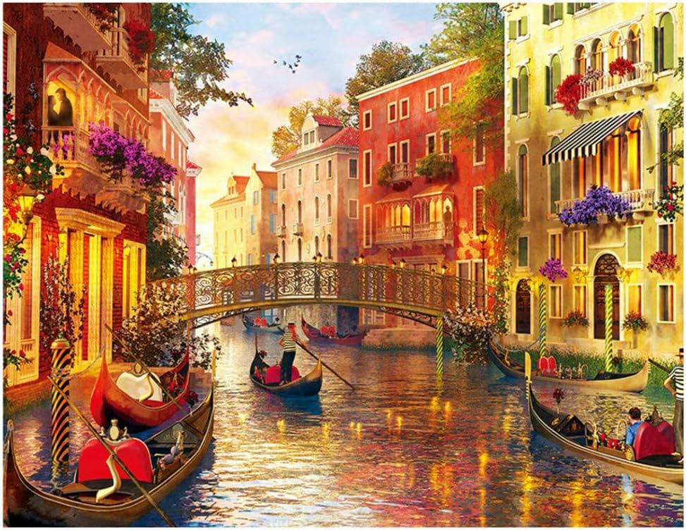 Rompecabezas para adultos FiedFikt, 1000 piezas, diseño romántico de Venecia, juego de rompecabezas para niños, juguetes interesantes, regalo personalizado, juego de rompecabezas para el hogar
