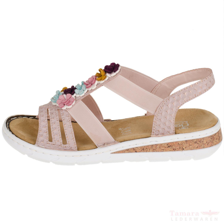 Rieker 618Z1 31 Damenschuhe Sandalen rosa