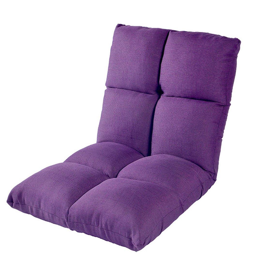 Jiyaru Adjustable Floor Chair Home Gaming Cushion Seat Folding Lazy Sofa Purple
