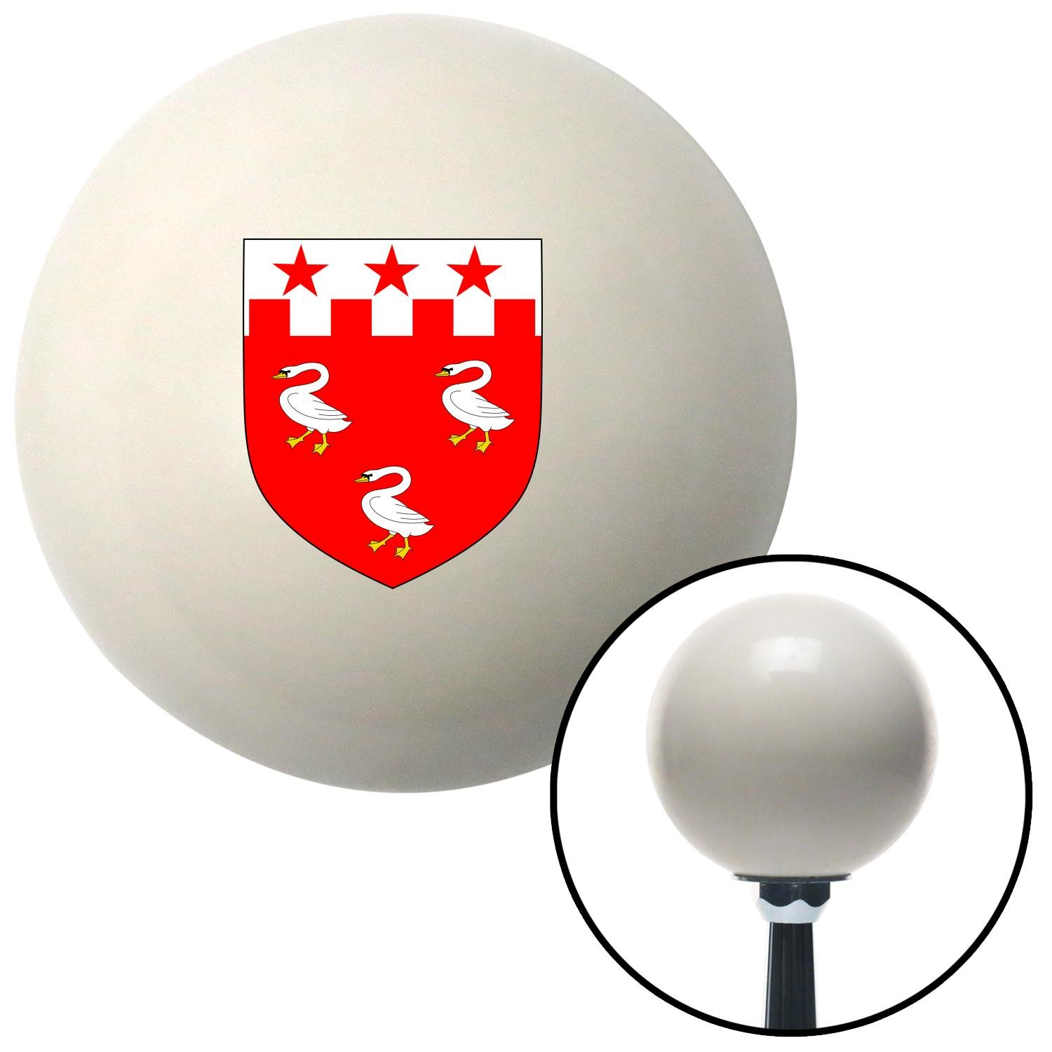 Patterson Coat of Arms American Shifter 76123 Ivory Shift Knob with M16 x 1.5 Insert