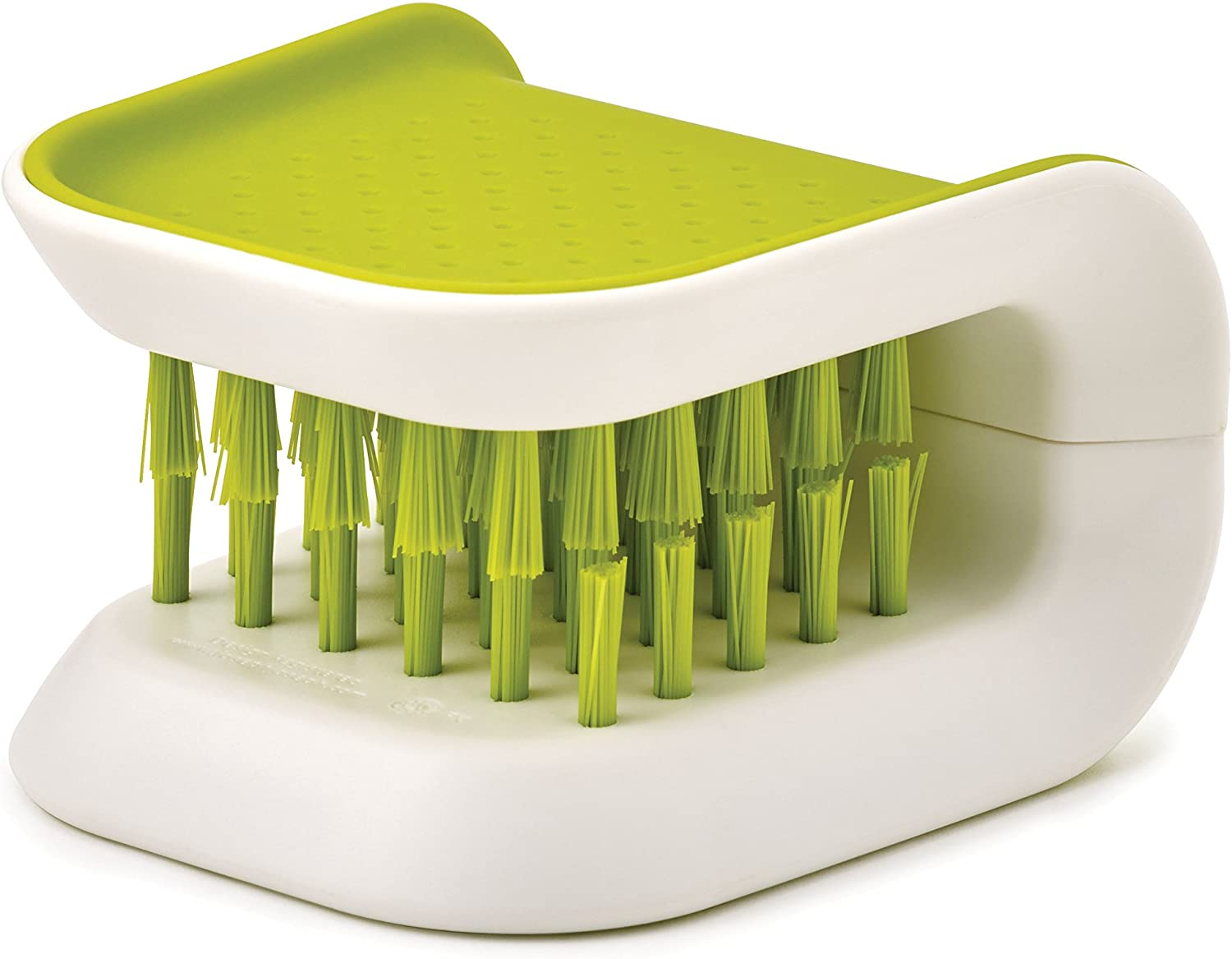 Joseph Joseph BladeBrush Knife and Cutlery Cleaner Brush Bristle Scrub Kitchen Washing Non-Slip, One Size, Green