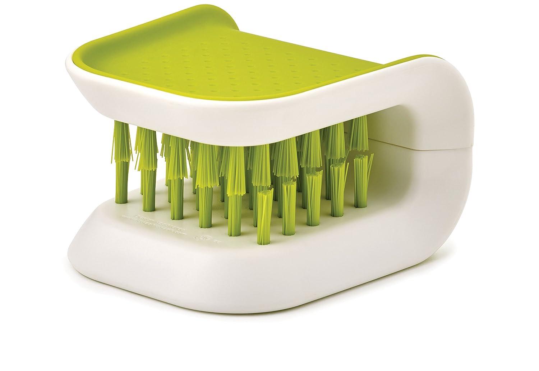 Joseph Joseph 85105 BladeBrush Knife and Cutlery Cleaner Brush Bristle Scrub Kitchen Washing Non-Slip One Size Green