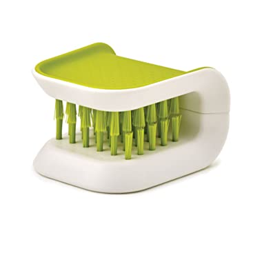 Joseph Joseph 85105 BladeBrush Knife and Cutlery Cleaner Brush Bristle Scrub Kitchen Washing Non-Slip, Green