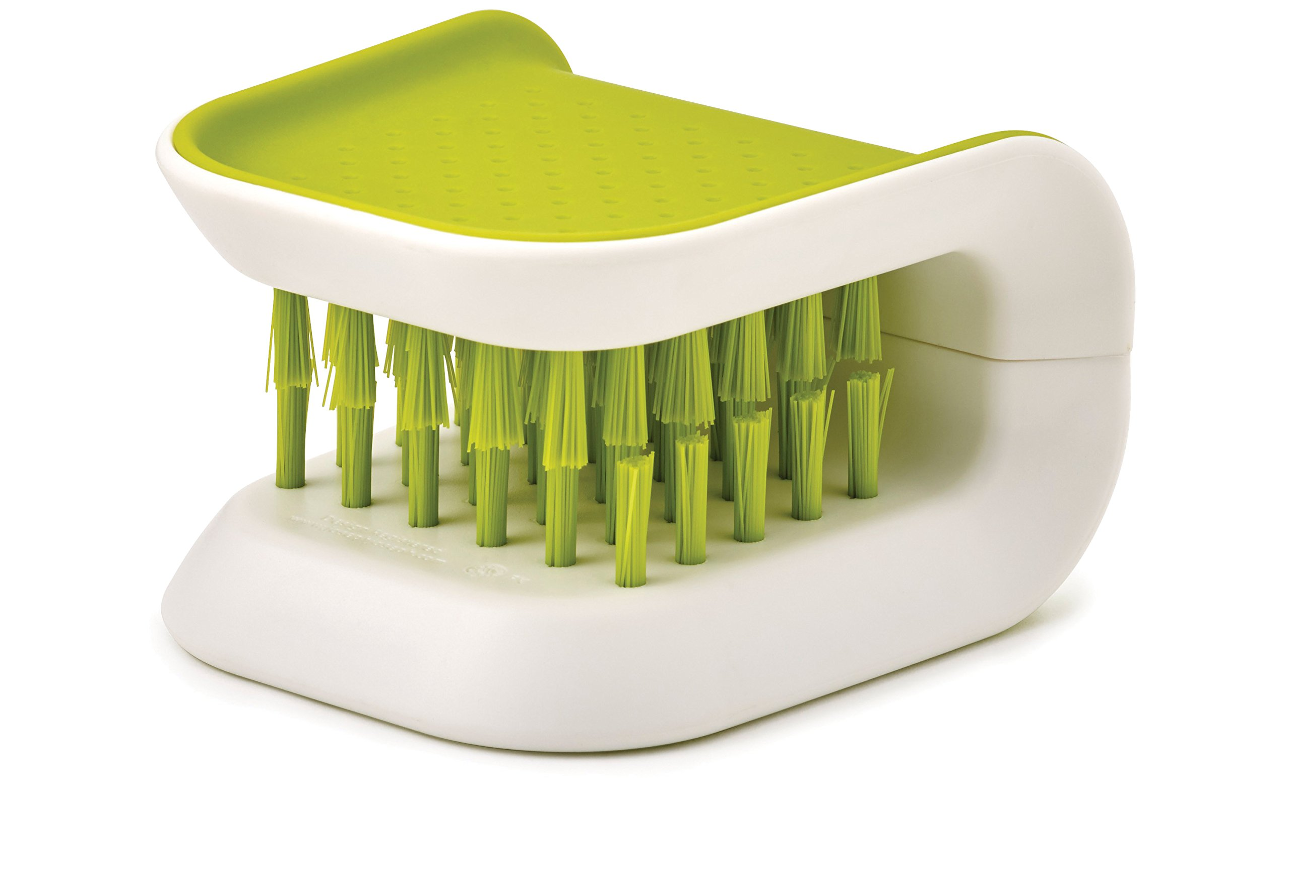 Joseph Joseph 85105 BladeBrush Knife and Cutlery Cleaner Brush Bristle Scrub Kitchen Washing Non-Slip, Green