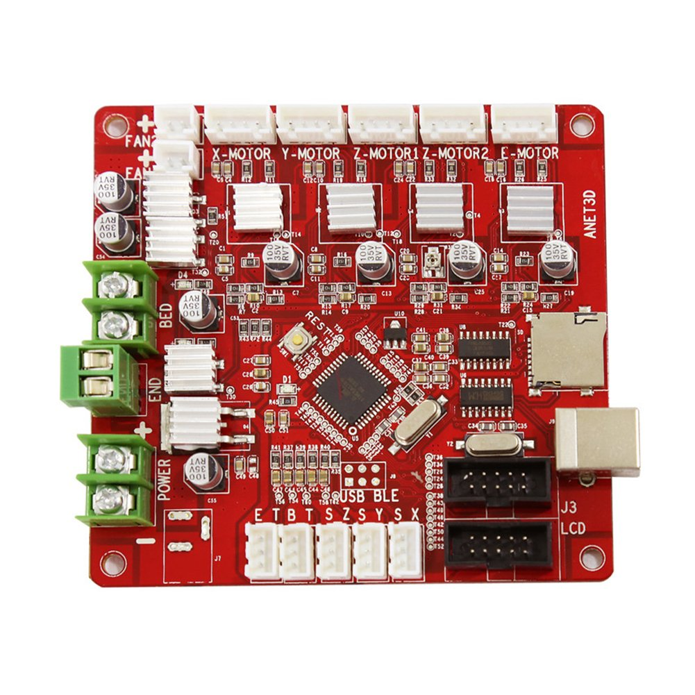 Control Mother Board Mainboard for ANET A8 DIY 3D Printer (red) by cyclamen9 (Image #1)