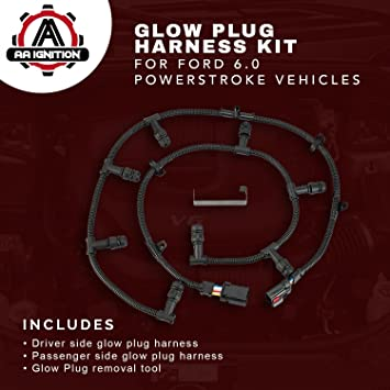 71AhpJmUrcL._SY355_ amazon com ford powerstroke 6 0 glow plug harness kit includes