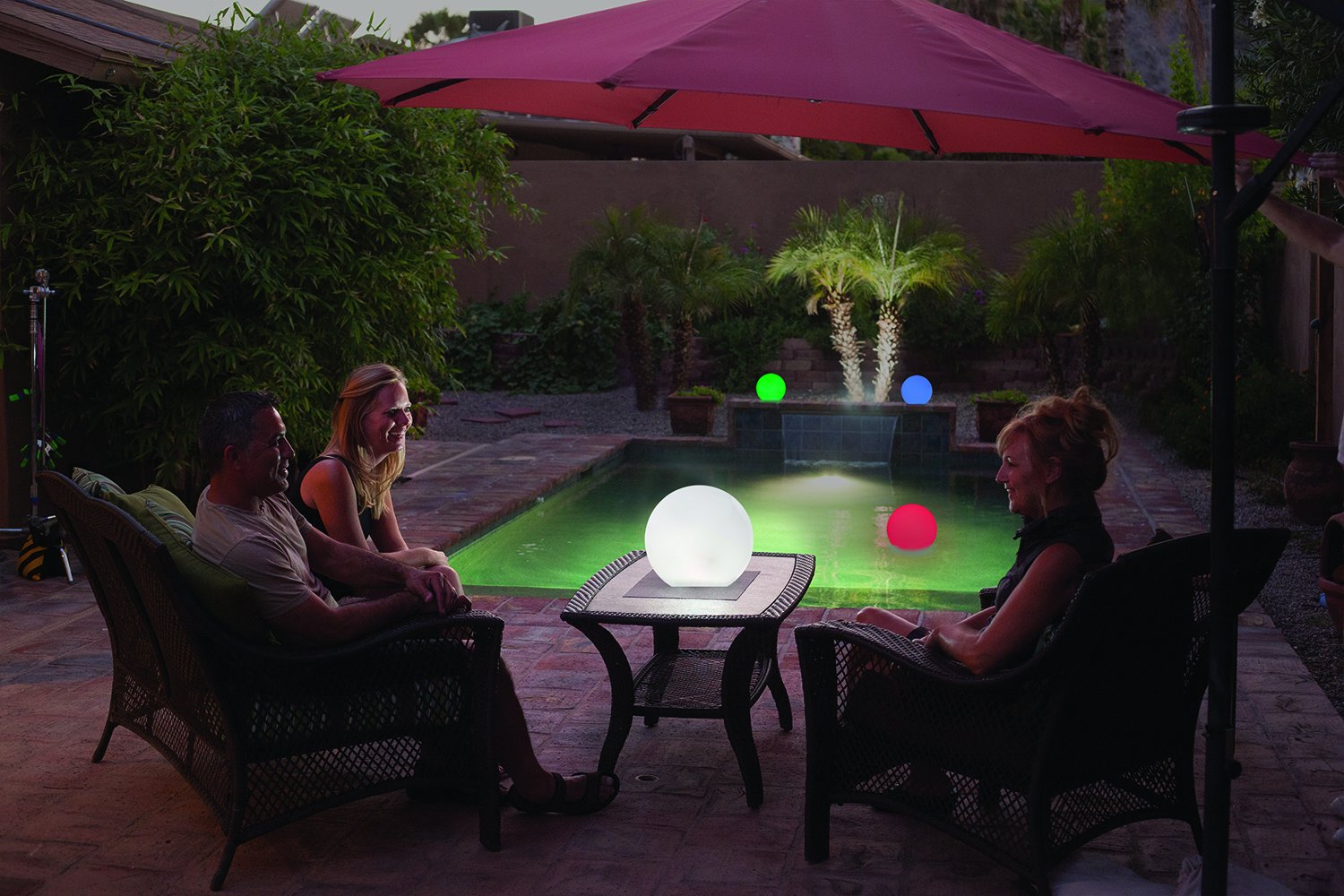 GalaxyGLO 9 inch Solar Powered Color Changing Globe for Pool or Patio - 2 pack by Sunsolar (Image #2)