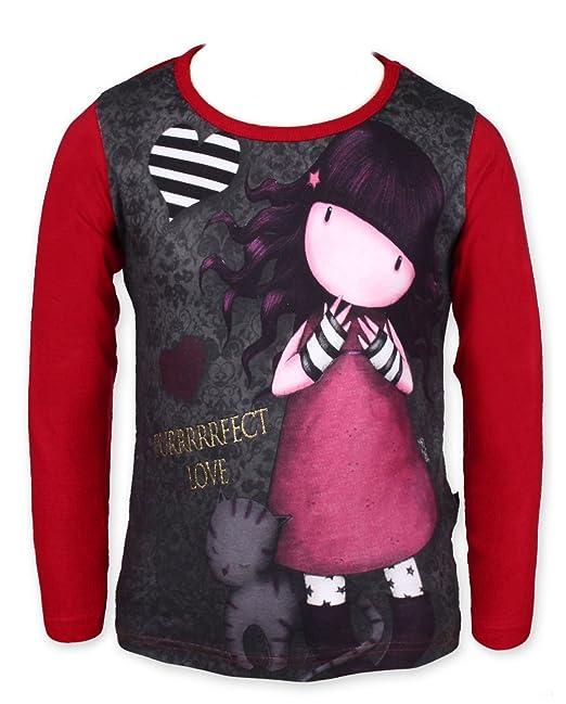 Gorgjuss Santoro - Camiseta de manga larga - para niña rojo rojo