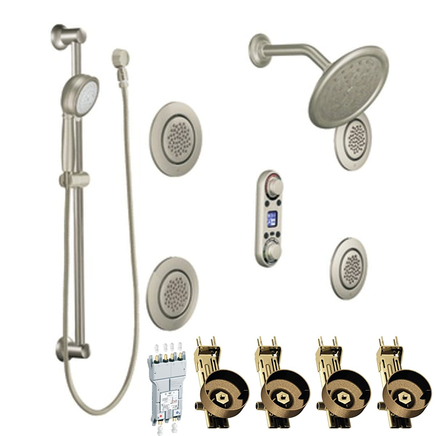 Moen TS296BN IoDIGITAL Vertical Spa Kit With Valves, Brushed Nickel   Shower  Installation Kits   Amazon.com
