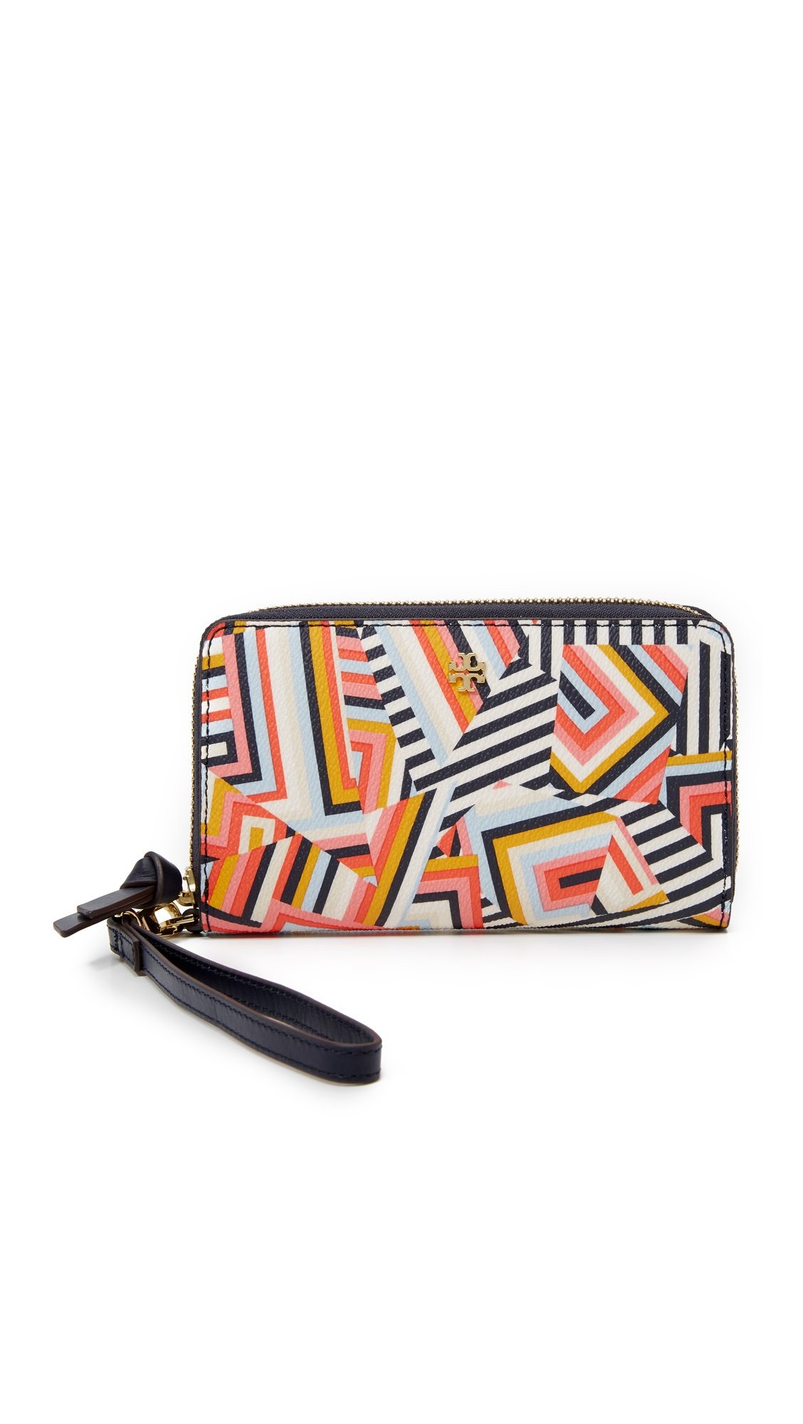 Tory Burch Kerrington Smartphone Wristlet Wallet Style No. 12169118 (Cut Out T Print) by Tory Burch