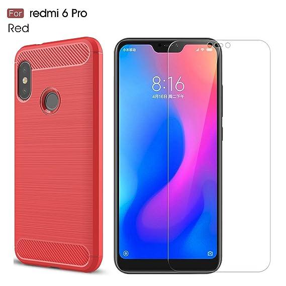 Xiaomi Redmi 6 Pro Case/Xiaomi Mi A2 Lite case,with Xiaomi Redmi 6  Pro/Xiaomi Mi A2 Lite screen protector  MYLB (2 in 1)[Scratch Resistant  Anti-fall]